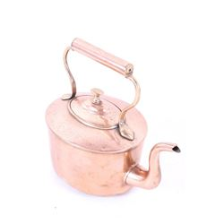 Late 1800s Burt Brothers Copper Dovetail Kettle
