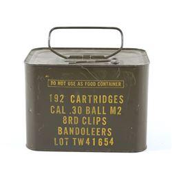 Unopened .30-06 Cal M2 Ammunition Tin
