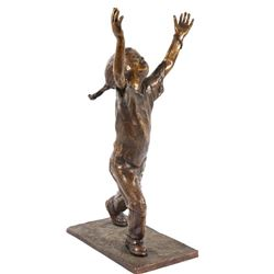 """Signed DeVries Sculpture Titled """"Daddy's Home"""""""