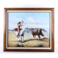 Original Solenson Native American Indian Painting