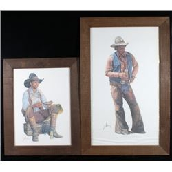 1970's Coors Cowboy Framed Prints By Gordon Snidow