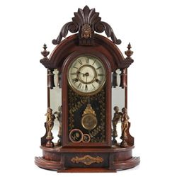 New Haven Clock Co Eight Day Mantle Clock c 1880s
