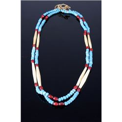 Sioux Trade Bead & Bone Hair Pipe Necklace 19th C.