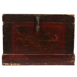 Early 20th Century Chinese Lacquered Locking Chest