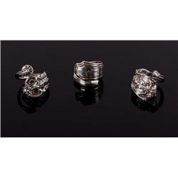 Collection of Sterling Silver Silverware Rings