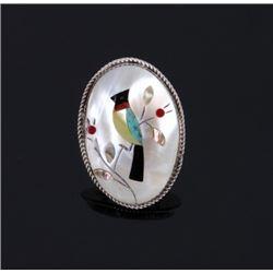 Zuni Native American Multi Stone Mosaic Inlay Ring