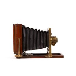 Early Wooden Folding Dry Plate Camera