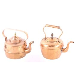 Collection of Late 19th C Copper Kettles