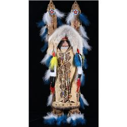 Northern Plains Indian Cradle Board With Doll