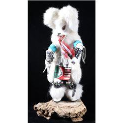 Hopi Wolf Dancer Fetish Kachina Doll