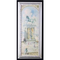 1954 Singed Roderick Montague Acryllic Painting