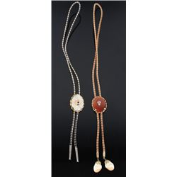 Northern Pacific Railway & Elk Bolo Ties