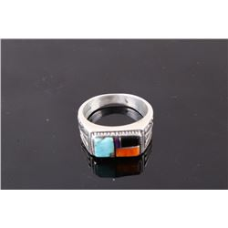Sterling Silver Precious Multistone Ring