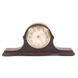 Mid-Late 20th Century Quartex Walnut Mantle Clock