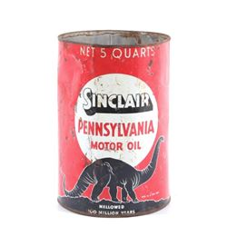 Sinclair Motor Oil 5 Quart Can 1930's-1940's