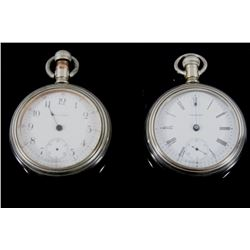 Pair of Waltham LATE 1800's No.18 Pocket Watches