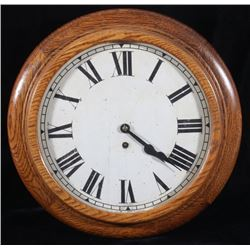 Circular Smith Empire Oak Hall Clock