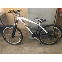 WHITE KONA MOUNTAIN BIKE