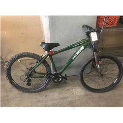 GREEN SPECIALIZED MOUNTAIN BIKE