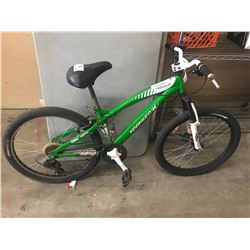GREEN/WHITE KRANKED MOUNTAIN BIKE