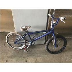 BLUE  BMX BIKE (MODEL UNKNOWN)