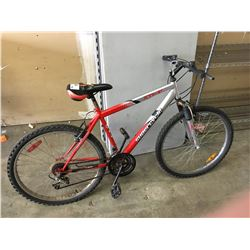 SILVER/RED SUPERCYCLE MOUNTAIN BIKE