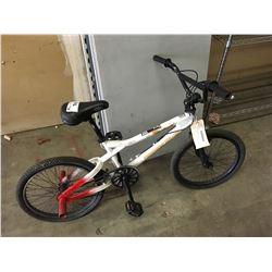 WHITE/RED BMX BIKE