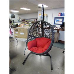 NEW GARDENSTAR OUTDOOR WICKER SWINGING EGG CHAIR