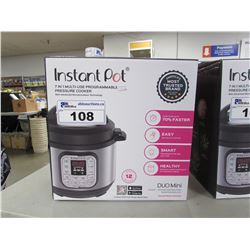 3 QUART INSTANT POT 7-IN-1 MULTI USE PROGRAMMABLE PRESSURE COOKER