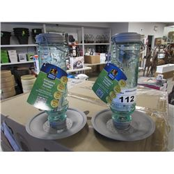 2 NEW MORE BIRDS SONG BIRD VINTAGE FEEDERS (1.5LB CAPACITY)