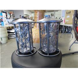 2 NEW METAL BUTTERFLY BIRD FEEDERS