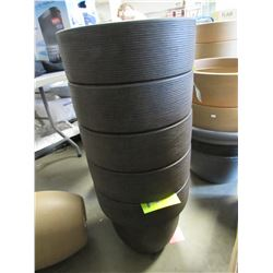 "5 NEW RUST 16"" TOLEDO GROSFILLEX LIGHT WEIGHT PLANTERS"