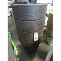 "4 NEW RUST 16"" TOLEDO GROSFILLEX LIGHT WEIGHT PLANTERS"