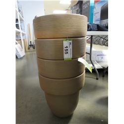 "4 NEW CARAMEL 16"" TOLEDO GROSFILLEX LIGHT WEIGHT PLANTERS"