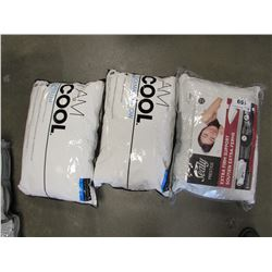 2 STANDARD QUEEN I AM COOL COOLMAX PILLOWS & SEALY PRESTIGE EXTRA FIRM SUPPORT STANDARD QUEEN