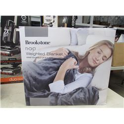 BROOKSTONE 12LB WEIGHTED BLANKET