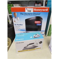 HONEYWELL LARGE ROOM AIR PURIFIER & RELIABLE VELOCITY 200IR STEAMER