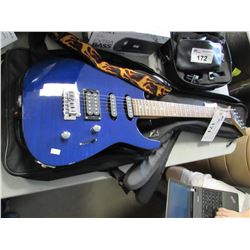 BLUE JACKSON ELECTRIC GUITAR & CASE