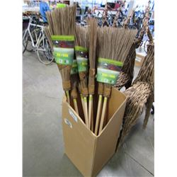 APPROX 8 NEW RAVI CLEAN GARDEN BROOMS