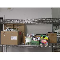 SHELF LOT OF ORTHO LAWN PROBLEM SOLVER & MIRACLE GRO ROSES BOOKS