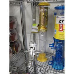 """NEW STOKES SELECT TOPSY TAILS FINCH FEEDER & 20"""" NYJER TUBE FEEDER"""