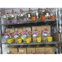 SHELF LOT OF NEW METAL FAIRY GARDEN PLANTER CUPS