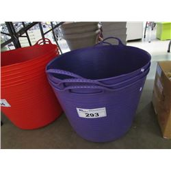 3 NEW PURPLE TUBTRUGS FLEXIBLE TUBS