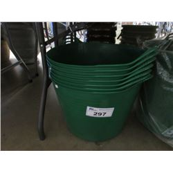 7 NEW GREEN TUBTRUGS FLEXIBLE TUBS