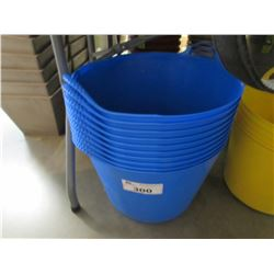 10 NEW BLUE TUBTRUGS FLEXIBLE TUBS