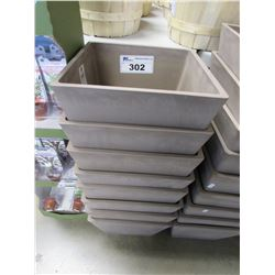 APPROX 8 NEW GREENSHIP 31X31X25 CM PLANTERS