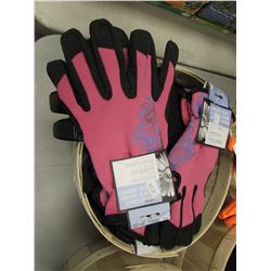BASKET OF NEW GARDENERS CHOICE SPANDEX BACK HEAVY DUTY GLOVES