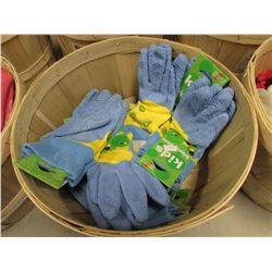 BASKET OF NEW MIDWEST KIDS GRIPPING GLOVES