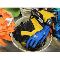 BASKET OF NEW MIDWEST MAX PERFORMANCE GLOVES