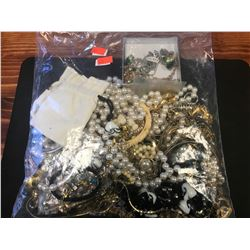 BAG ASSORTED COSTUME JEWELRY - RCMP RECOVERED